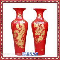 酒店大气摆件陶瓷花瓶 商务礼品手绘花瓶