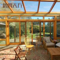 别墅会所阳光房 露台钢化中空玻璃房小区阳光房货源地厂家定制加工