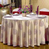 君康传奇宾馆酒店用品定做饭会议室婚庆红色台布椅套批发布料餐桌布