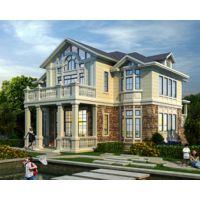 吉安别墅设计AT1747优雅别致二层带车库错层英伦风别墅全套设计图纸14.9mX15.4m