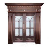 纯铜双开入户铜门、仿铜门 不锈钢铜门 智能防盗门 北京地区免费测量安装
