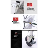 广州腾达6尺升降平台折合式工程梯,梯博士脚手架铝合金作业平台