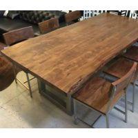 工厂学校餐桌,玻璃钢餐厅,挂凳餐桌