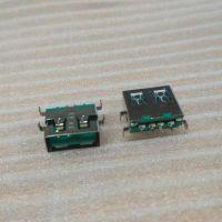 usb2.0沉板SMT母座【板下H=1.9 USB卧式贴片AF】深绿胶芯短体A母