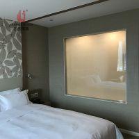 电控变色雾化智能调光玻璃 通电玻璃 高档酒店,办公室玻璃隔断