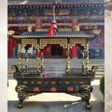铸铁长方形八龙柱香炉 江西寺庙铸铁香炉供应商