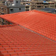 山西运城轻质树脂瓦 水泥屋面塑料瓦 别墅用仿古琉璃瓦材料