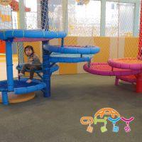 起航游艺旋转楼梯,室内儿童乐园绳网设备,彩虹绳网生产厂家,彩虹网