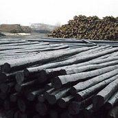 大量供应防腐油木杆6-10米