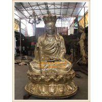苍南正圆地藏王佛像生产厂家 木雕铜雕地藏王菩萨定做厂家