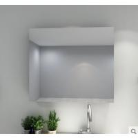 莱博顿浴室置物镜柜卫生间置物架玻璃镜柜箱洗手间防水储物镜子一体柜铝材