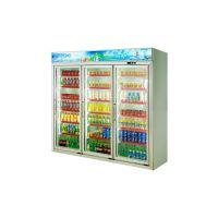 安德利厂家订制三门饮料柜 啤酒牛奶冷藏柜 多门冷冻饮料柜展示柜BFH-3
