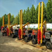 四轮护栏打桩机湖南生产厂家