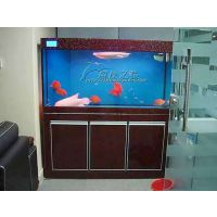 超厚超白玻璃鱼缸玻璃直角生态水草缸鱼缸底柜水族箱