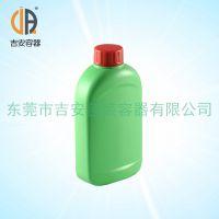 HDPE 绿色600ml毫升扁瓶 600g包装塑料瓶 化工液体瓶 厂家直销