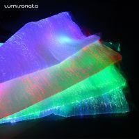光鞋面料 智能app控制光纤布 七彩发光
