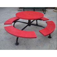 嘉峪关户外铸铝家具厂 加工欧式铁艺桌椅 实木户外家具—振兴