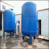 辉县市供应 食品饮料加工厂18T/h碳钢活性炭过滤器 除去水中异味有机物清又清加工循环水石英砂过滤器