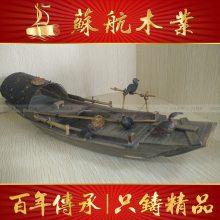 纯手工制作欧式木船/室内木船摆饰/两头尖装饰船/私人定制船