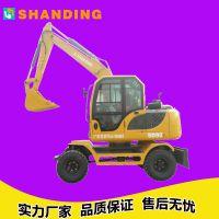 江西抚州比三一省油的轮式挖掘机 山鼎多功能抓木机胶轮挖掘机价格表