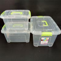 武汉手提加厚透明收纳箱批发塑料盒子有盖储物箱玩具衣服整理箱收纳盒厂家