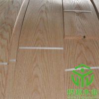 福建天然木皮厂家,红橡木皮山纹供应 桦源木业