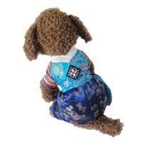 传统韩服大长今过年旗袍狗衣服 宠物衣服批发 泰迪贵宾丝绸朝鲜服