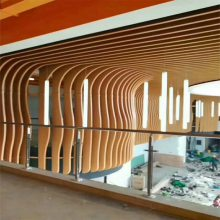 木纹弧形铝方通生产厂家 佛山欧百建材