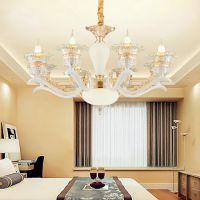 水晶吊灯客厅现代简约餐厅卧室客厅灯奢华大气家用欧式灯全铜灯具