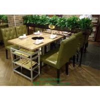 深圳餐饮连锁加盟店桌椅简约现代自助餐厅火锅桌烧烤桌子椅子