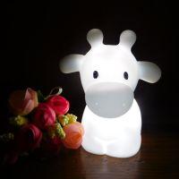 儿童玩具卡通动物led小夜灯 创意发光搪胶装饰现代简约新奇造型灯