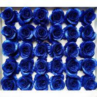 水晶玫瑰花 金粉玫瑰花头 蓝色妖姬花店用品鲜花卡通花束材料批发