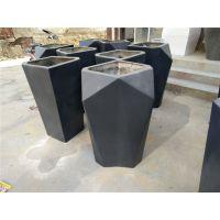 户外公园专用玻璃钢简约花盆 黑色玻璃钢花盆 厂家直销