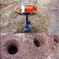 电线杆埋设钻眼机 富兴大功率地钻打洞机 植树挖坑机哪家价格便宜