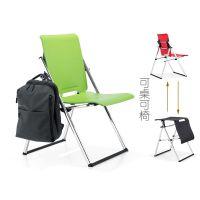 塑料折叠椅 桌椅两用培训椅 众晟办公会议椅