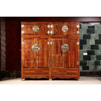 云南大理大清御品红木家具古典家具白酸枝 华韵素面顶箱柜2件套