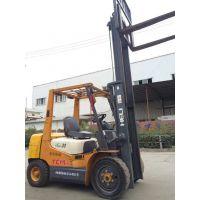 供应江浙沪优质二手TCM合力3吨4.5米软包夹叉车 免费送货