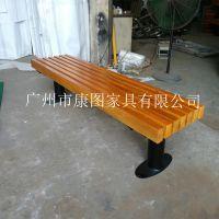 户外休闲椅供应 园艺钢木座椅销售 石家庄户外休闲椅厂家