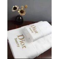 段边绣花(dior)酒店宾馆纯棉吸水柔软亲肤礼品毛巾