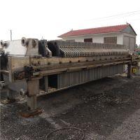山东梁山正点二手设备出售二手京津130不锈钢自动拉板压滤机