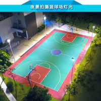 制作篮球场照明灯光价格 标准球场灯杆高度 灯杆基础地笼图纸