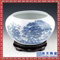 手绘简约礼品聚宝盆 办公装饰陶瓷花盆