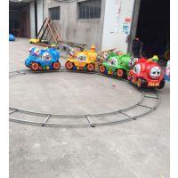 景区游乐设备电动小火车 小火车生意操作简单自如 五个车厢的小火车价位