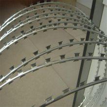 围墙刺网安装 刀片刺线 pvc刺绳