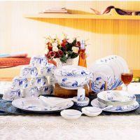 家用餐具碗盘组合景德镇陶瓷中式瓷器套碗盘碟
