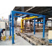 加气混凝土砌块缠绕包装机 可省托盘 防止损耗 好设备就选喜鹊包装机械