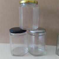 供应六棱玻璃蜂蜜瓶380ml一斤装