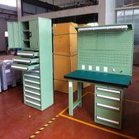 天津双工位工作台 前后工位工作台 带挂板工作台专业定做厂家