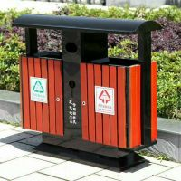 防腐木环保木质垃圾桶 环卫分类垃圾桶