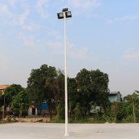 南充市篮球场灯杆灯具选择、LED/金卤灯篮球场灯杆安装如何搭配